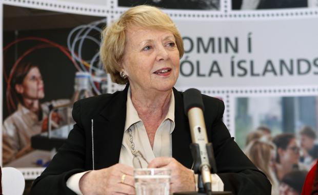 Vigdís Finnbogadóttir (source: Icelandmag.is)