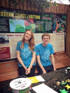 John and Hannah at our stall in Amazonia